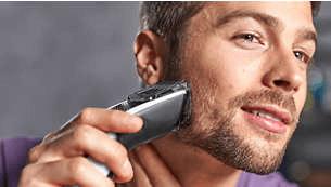 Include un pettine da barba con 12 lunghezze regolabili: da 1 a 23 mm