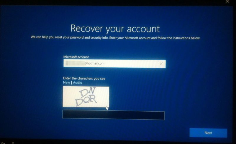How do I recover my Hotmail account password?
