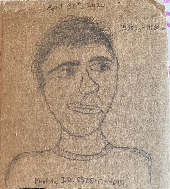 A Cardboard Self Portrait, circa Zoom