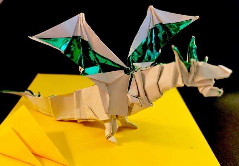 Origami Fiery Dragon