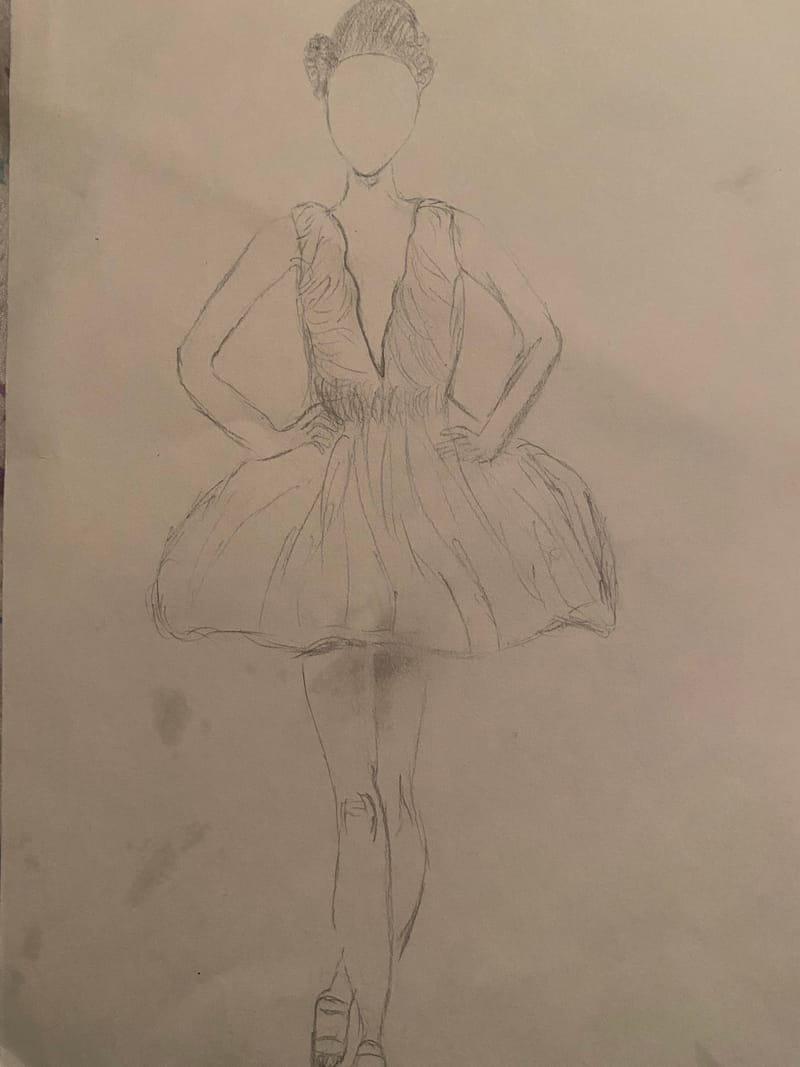 Iris Van Herpen inspired dress