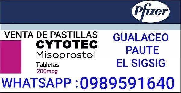 PASTILLAS ORIGINALES CYTOTEC EN GUALACEO 0989591640