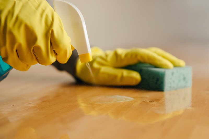 MAINTAIN HYGIENE - CLEAN YOUR WORK SPACE