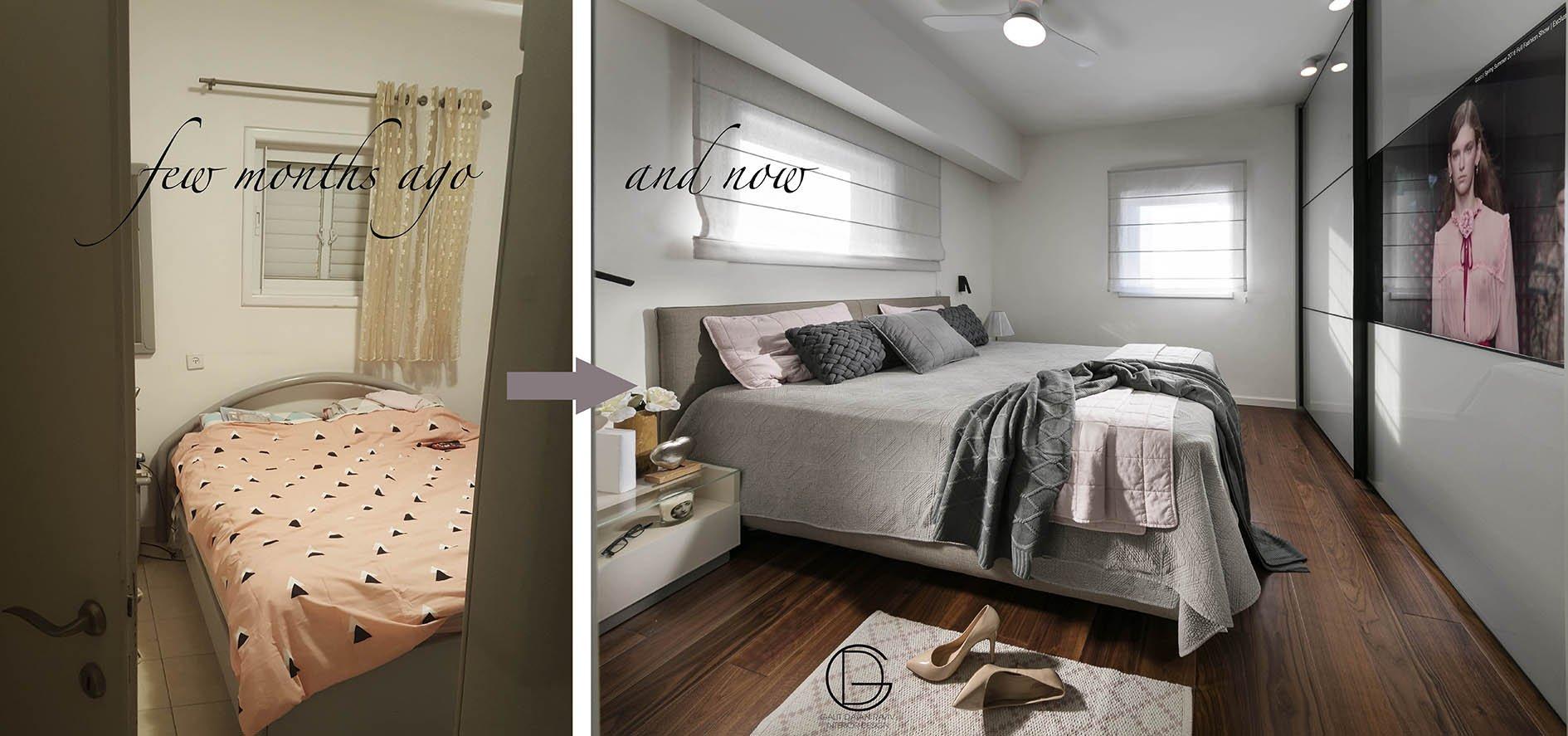 חדר שינה לפני ואחרי
