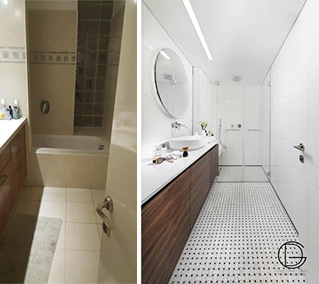 חדר רחצה לפני ואחרי
