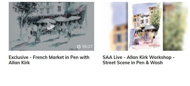 Allan's work with the SAA (Society for All Artists)