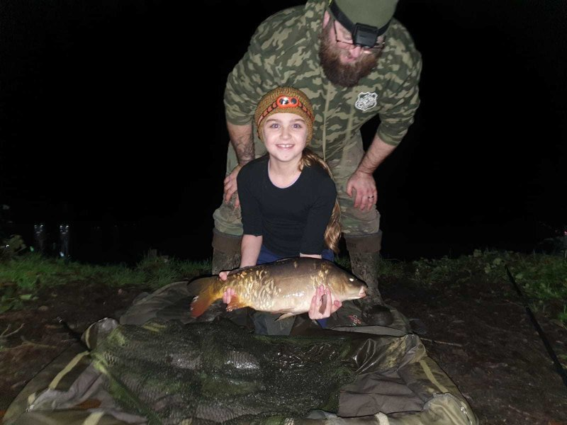 Sophia with a night time Carp