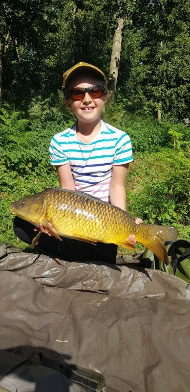 Sophia with another Carp from Pond House