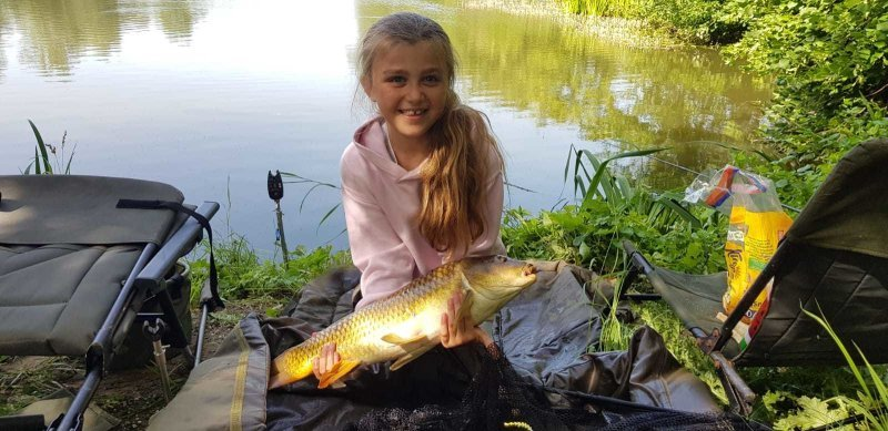 Another Carp for Sophia from Pond House