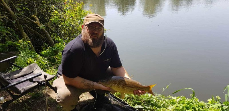 Ian with a Carp from Langham