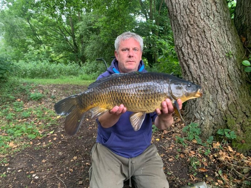 Shaun with a nice Carp at Langham