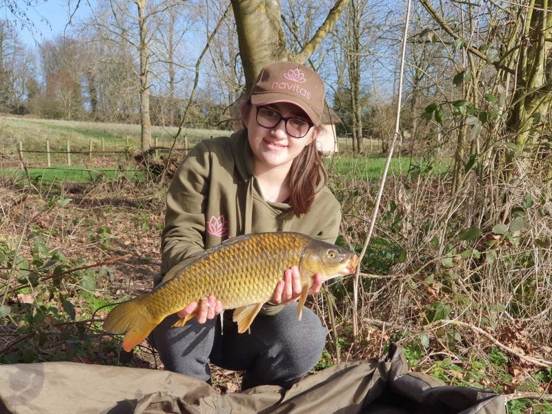 Anya with a Pond House Carp