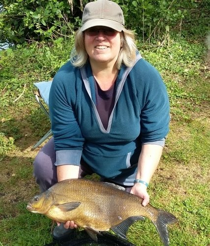 Angela with 9lb 13oz Bream