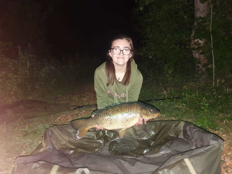 Anya with an evening Carp at Langham