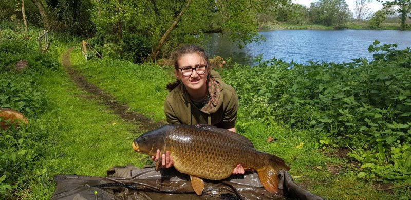 Anya with Carp at Langham