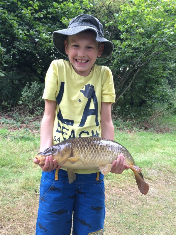 Junior very pleased with his Carp