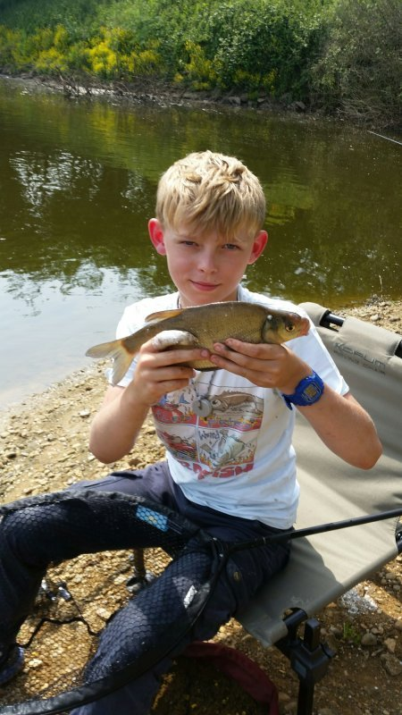 Junior with his Bream