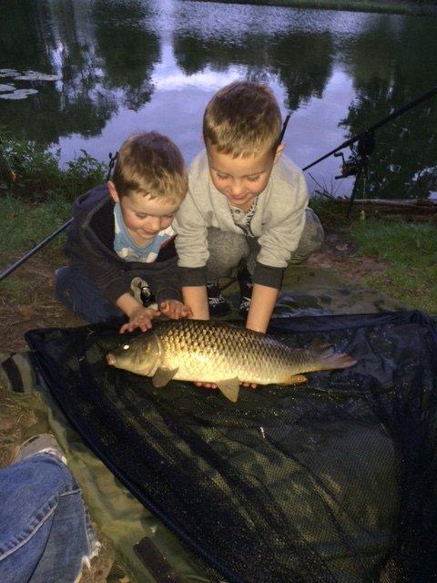 Toby & Leo with a Glebe Carp
