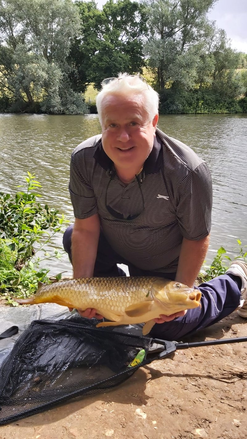 Cliff with 13lb Carp from Pond House