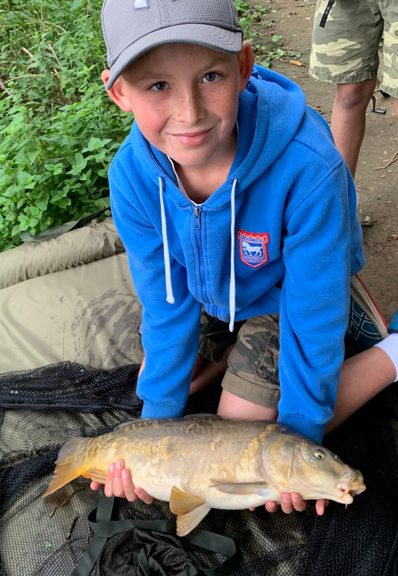 Ollie's first Mirror Carp at Pond House