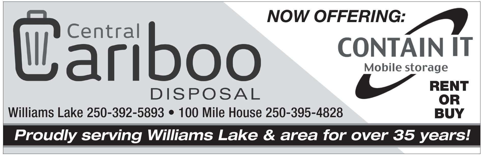 Please take a moment to visit our wonderful sponsors, Central Cariboo Disposal.  Click here.
