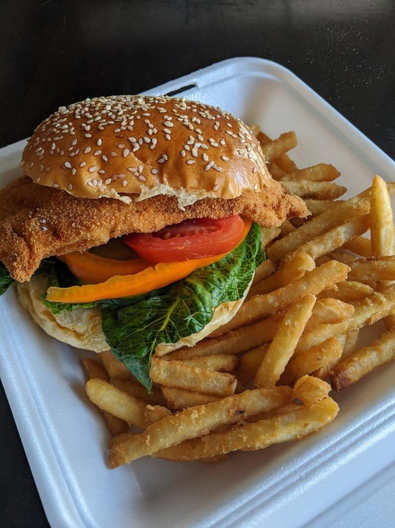 Schnitzel on a bun