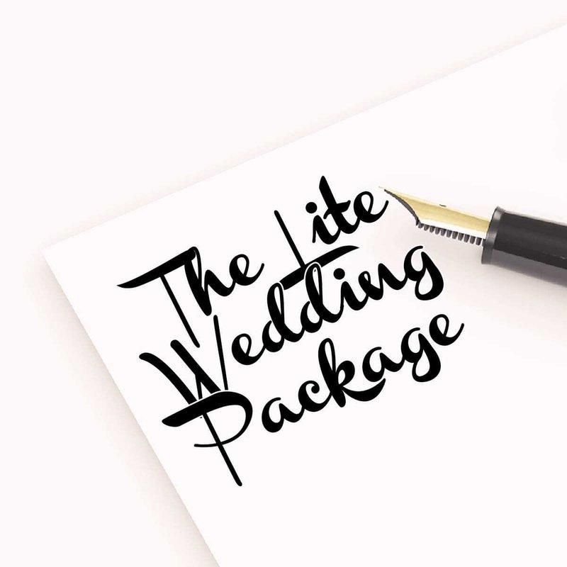 The Lite Wedding Package - £500