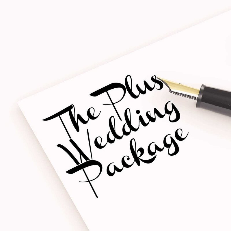The Plus Wedding Package - £800