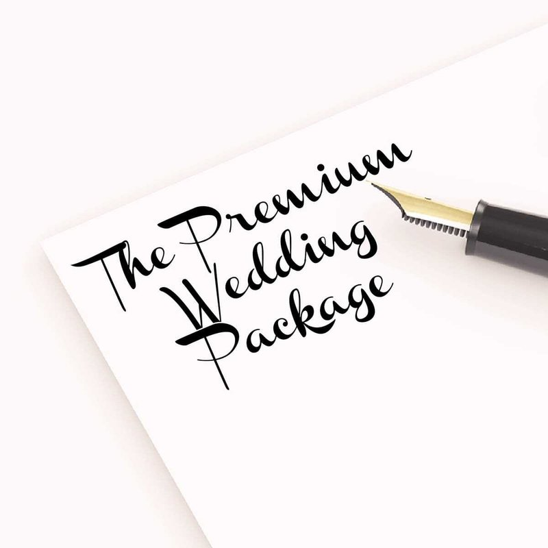 The Premium Wedding Package - £1200
