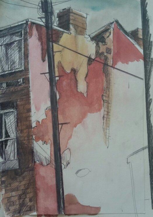 Urban Decay, mixed media on canvas 2018