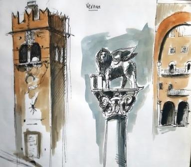 Verona pen and wash, 2012