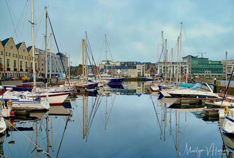 Reflections - Galway marina