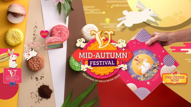 Wow your loved ones this Mid Autumn Festival with Vanilla Moon Crepe!