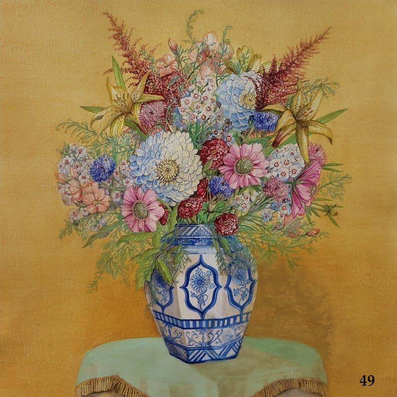 Bouquet in Asian Vase Flowers