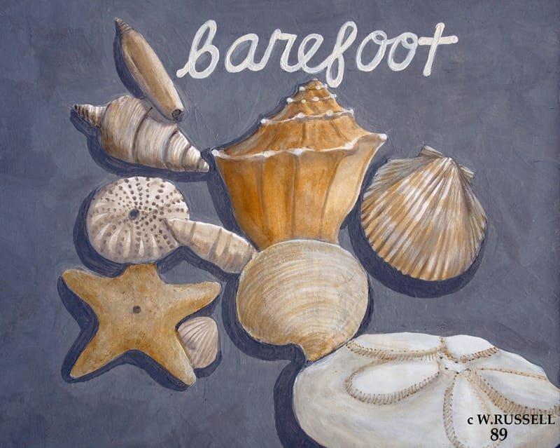 Seashells on Grey Series Barefoot