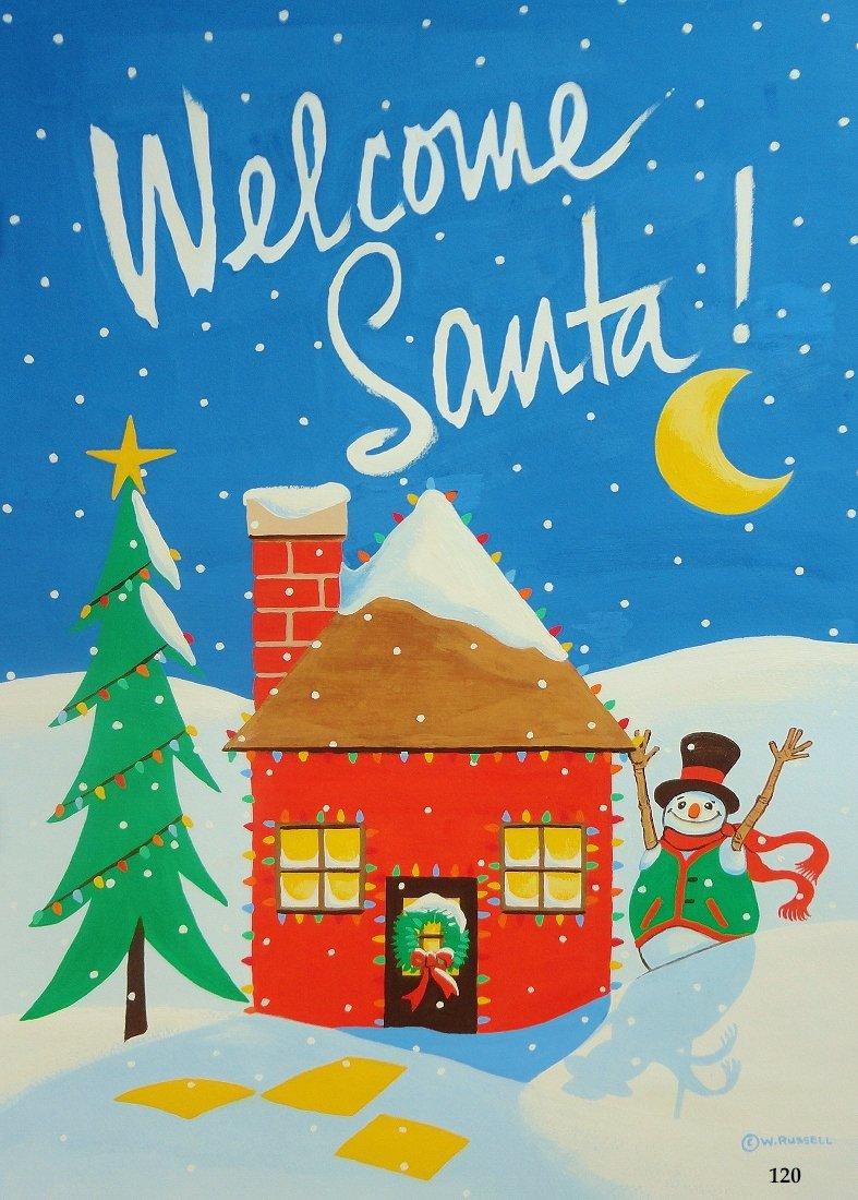 Holiday Welcome Santa