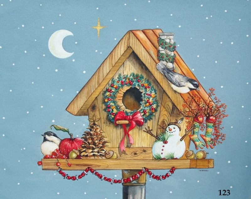Holiday Birdhouse