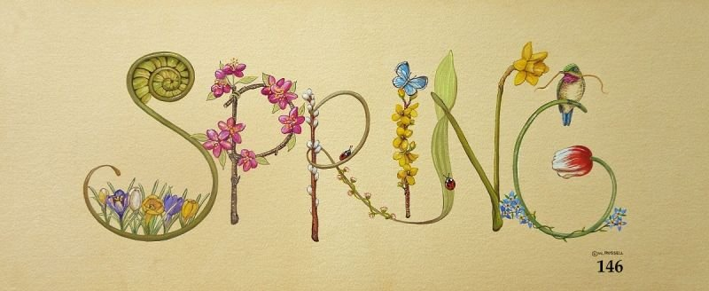 Spring Sign with Decorative Letters