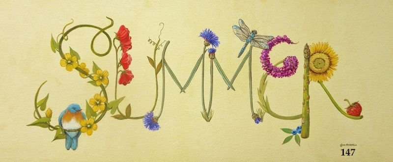 Summer Sign with Decorative Letters