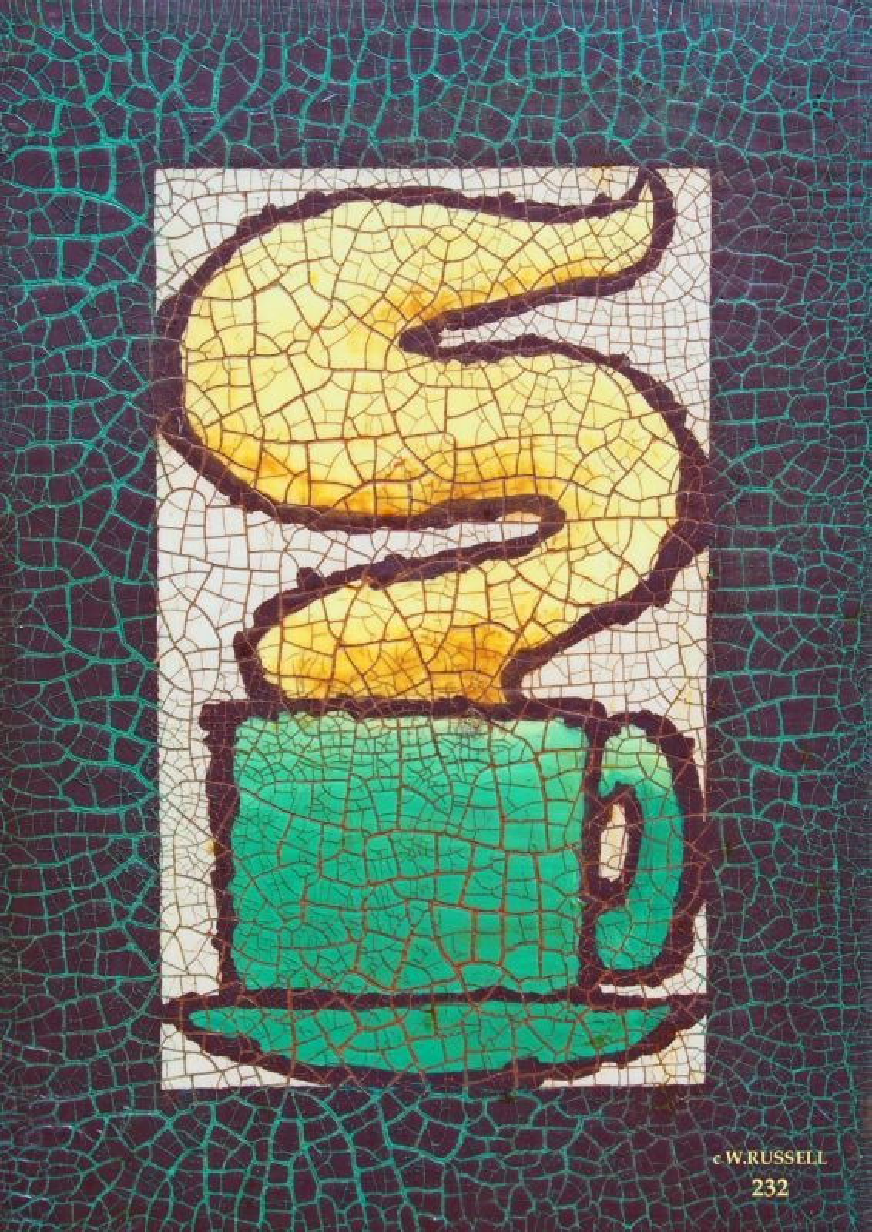 Crackled Green Coffee Mug