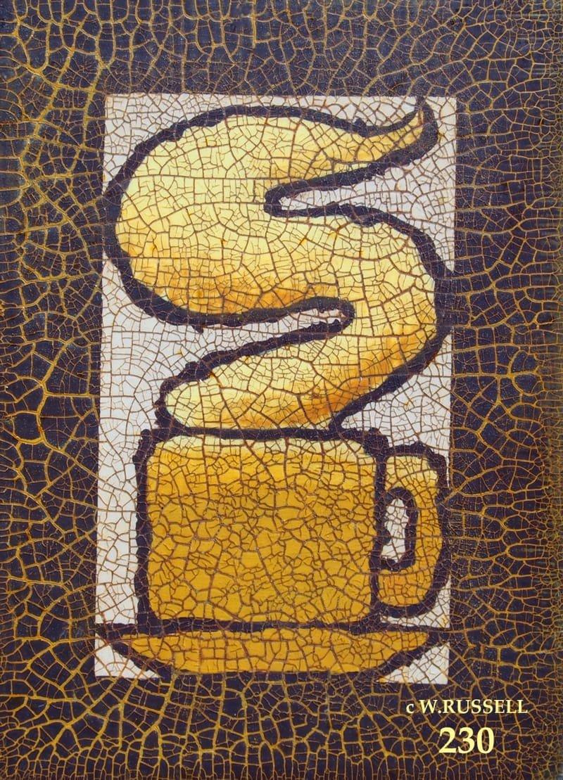 Crackled Brown Coffee Mug