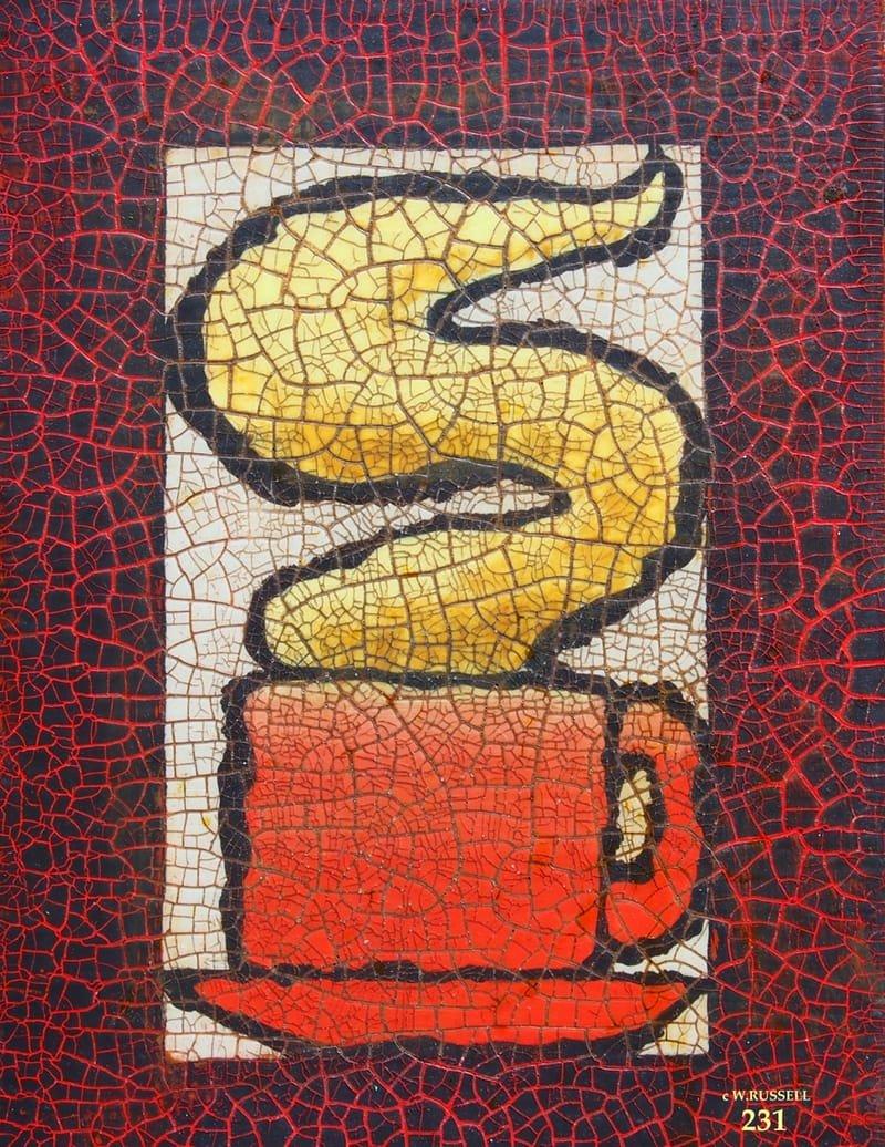 Crackled Red Coffee Mug
