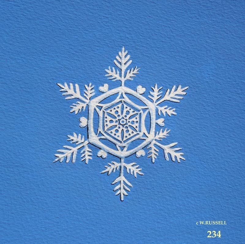 Snowflake on Blue 1