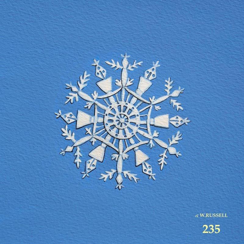 Snowflake on Blue 2