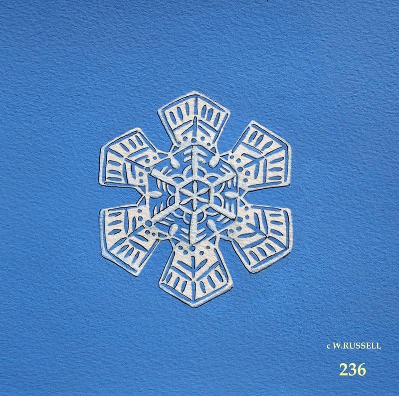Snowflake on Blue 3