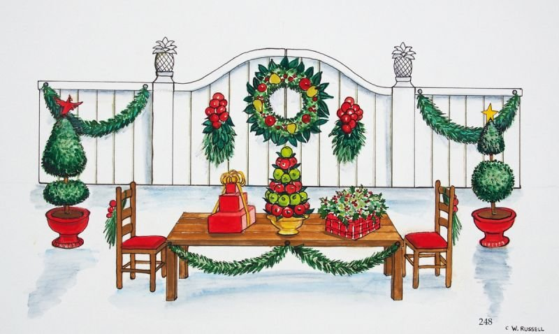 Country Christmas Holiday Table