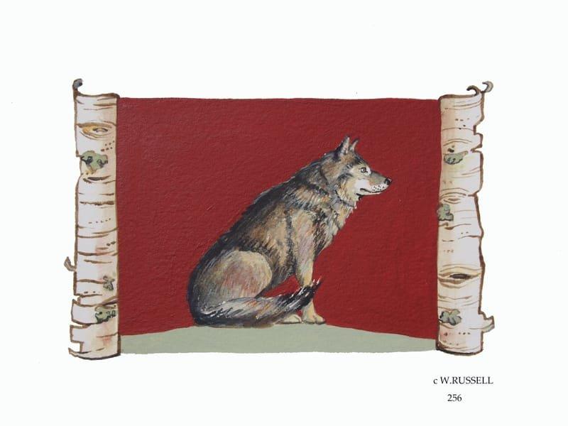 Birch Woodland Animal Series Wolf