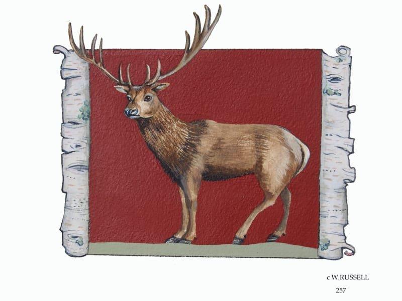 Birch Woodland Animal Series Elk