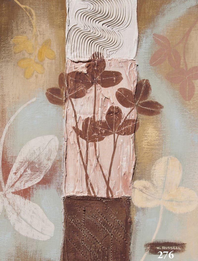 Textured Leaves Brown Tones 2