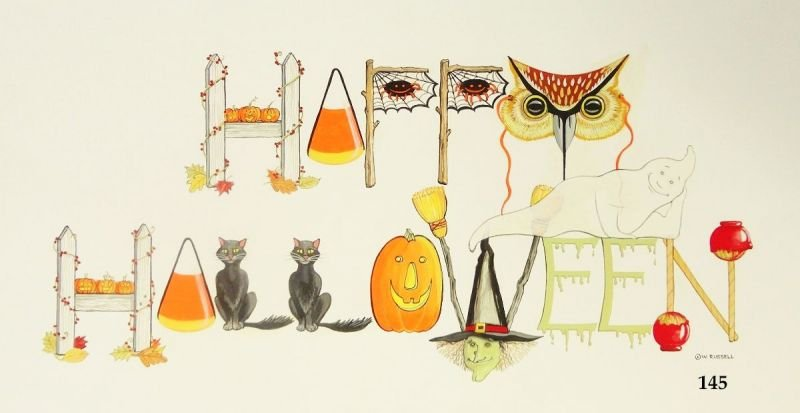 HAPPY HALLOWEEN Decorative Letters Sign